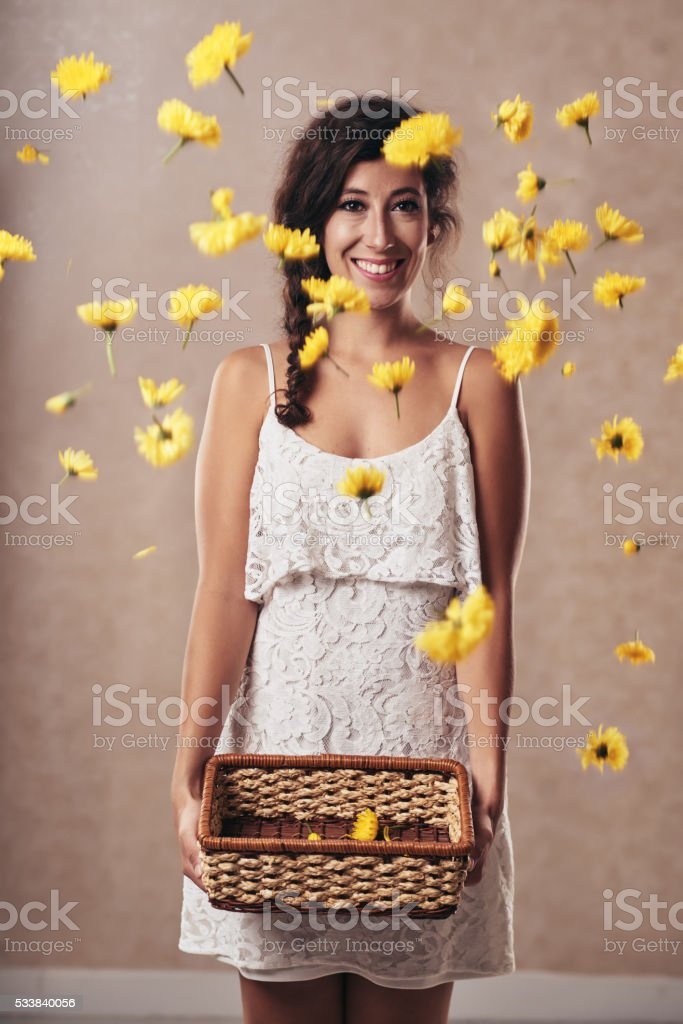 Summer in the air stock photo