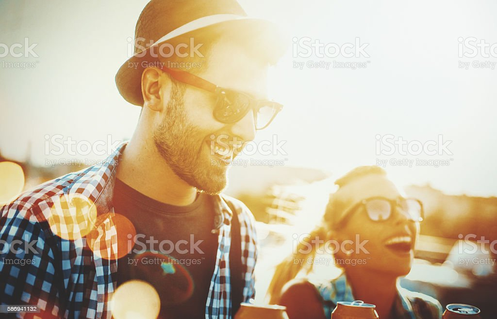Summer in the city. stock photo