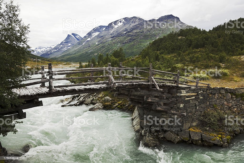 Summer in the Norwegian mountains. stock photo