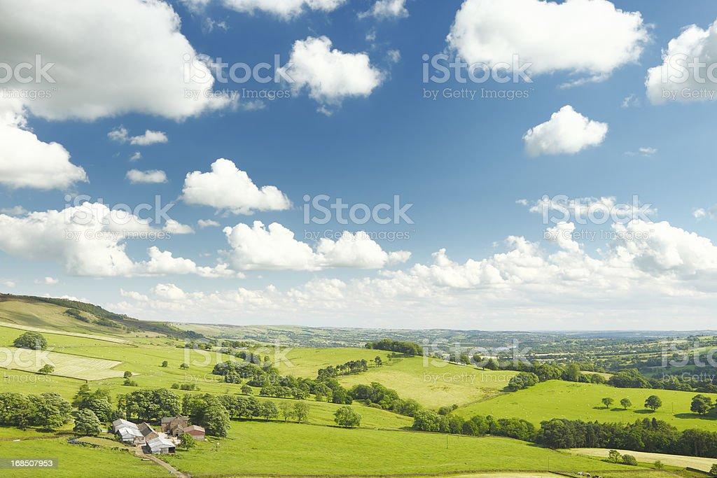 Summer in the Peak District, UK stock photo