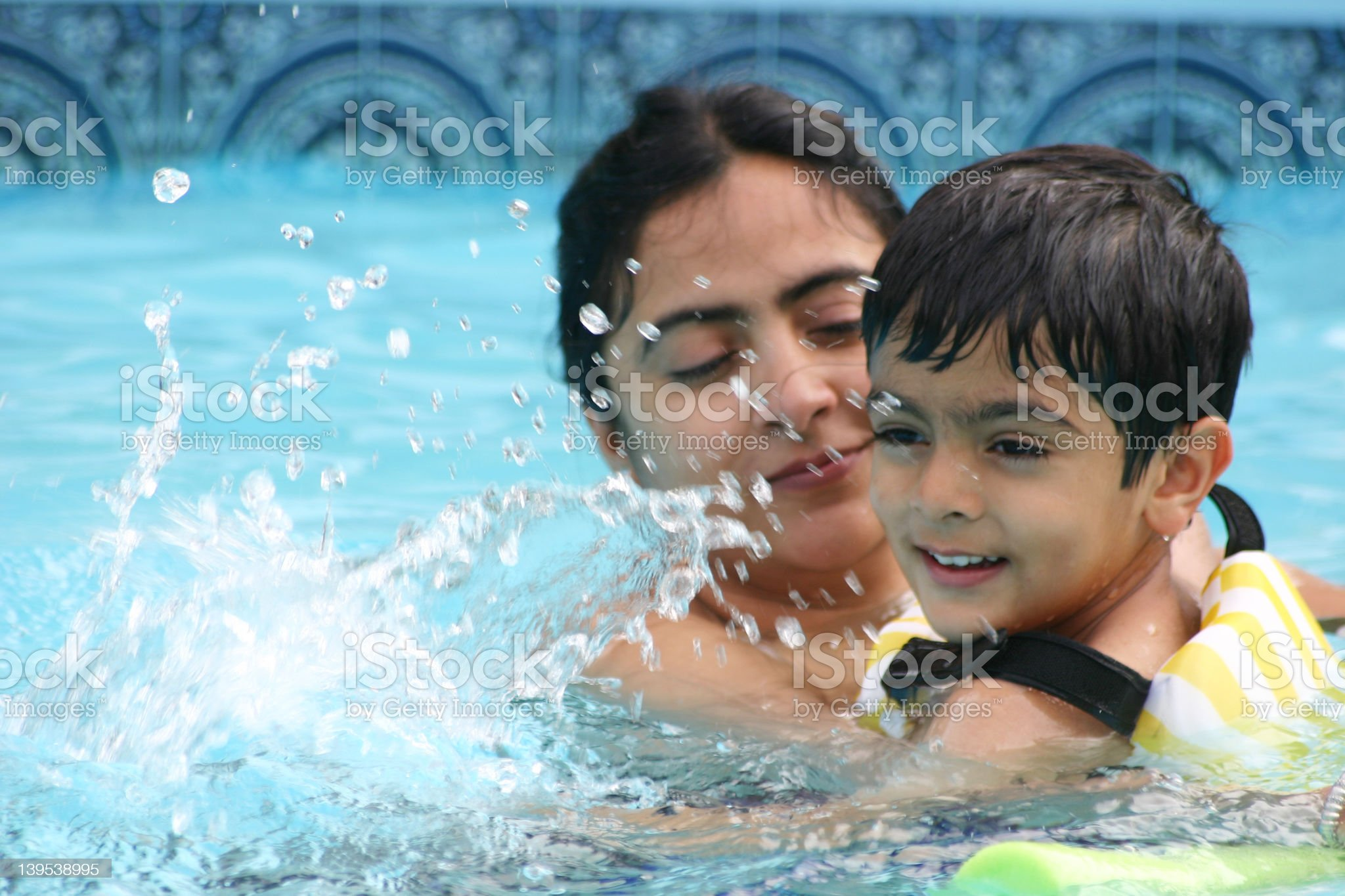 Summer in the pool royalty-free stock photo