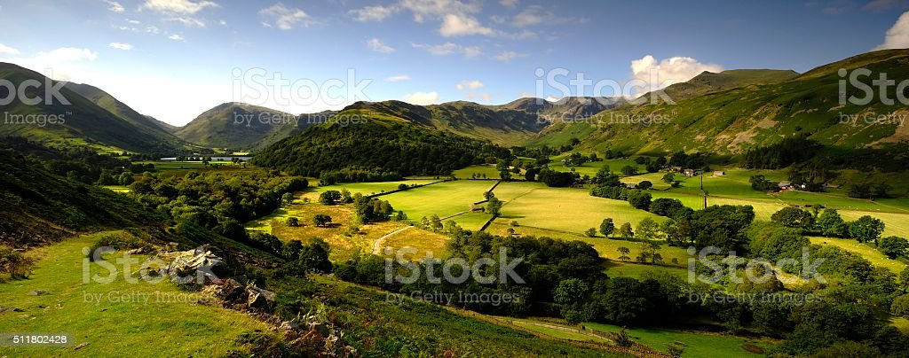Summer in the valley stock photo
