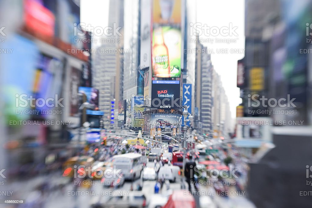 summer in times square royalty-free stock photo