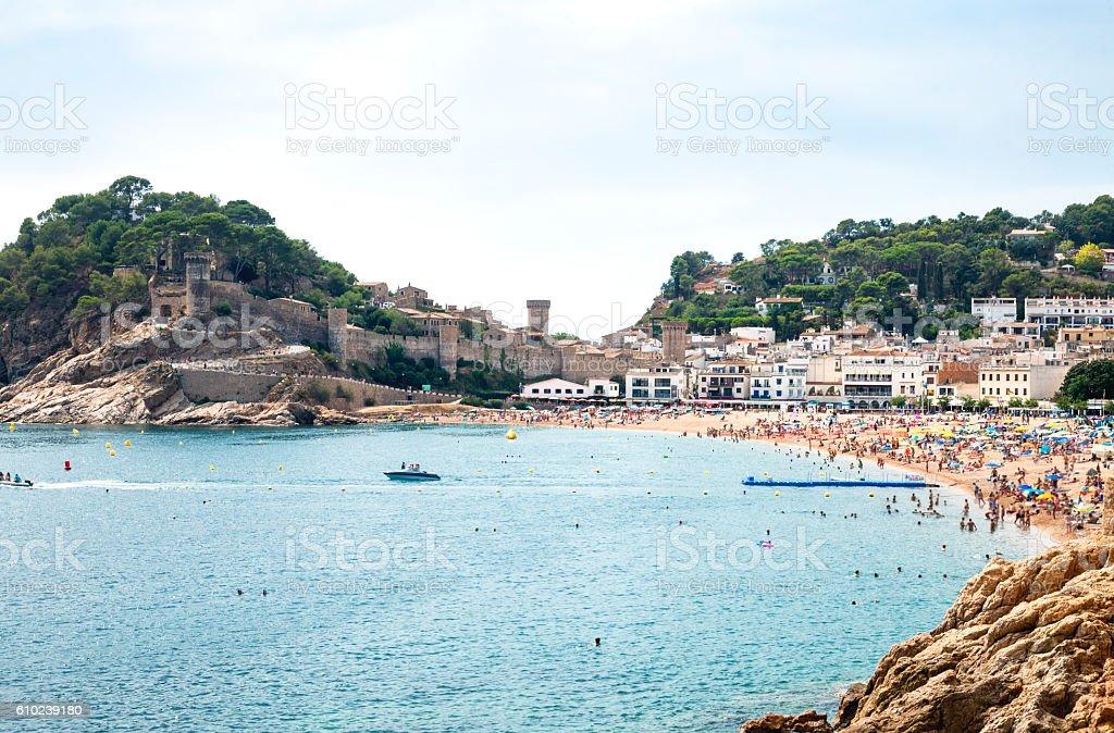 Summer in Tossa de Mar stock photo