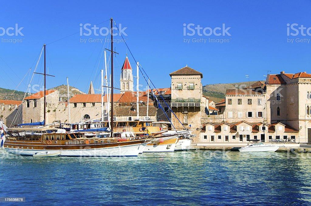 Summer in Trogir, Croatia stock photo