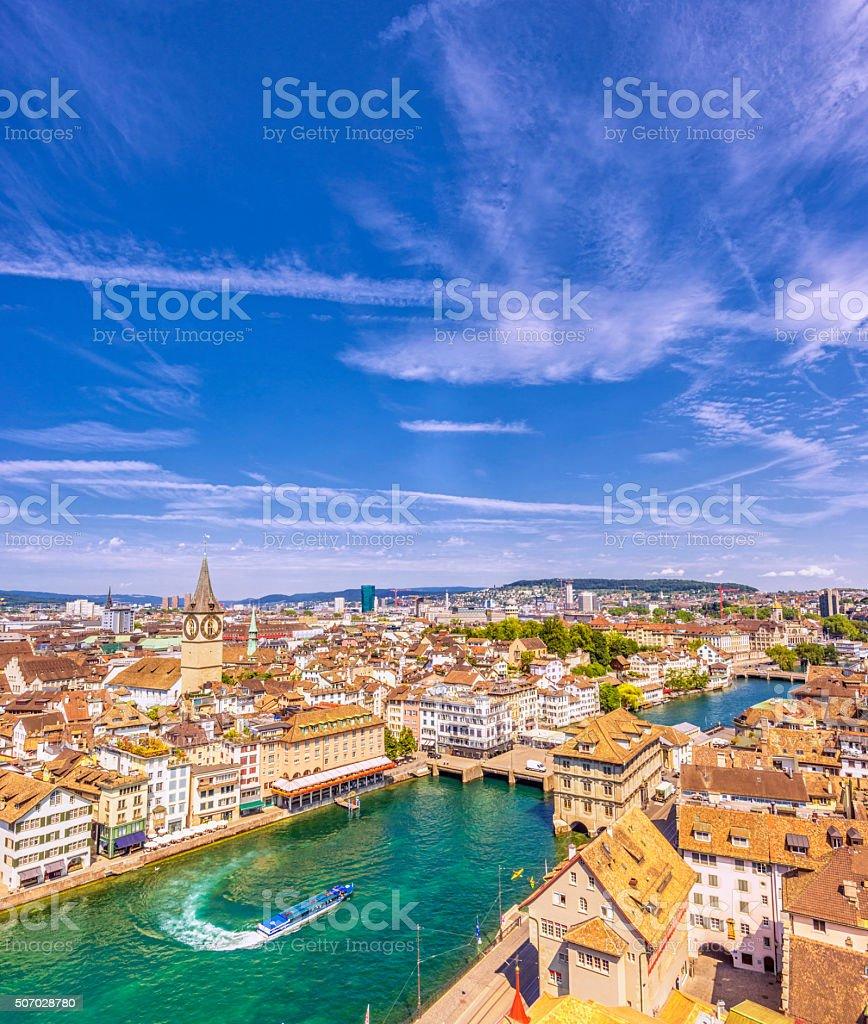 Summer in Zurich stock photo