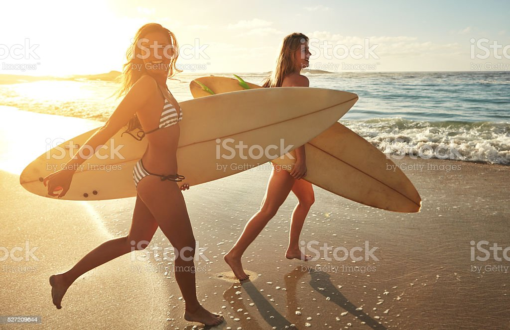 Summer is all about surfing stock photo