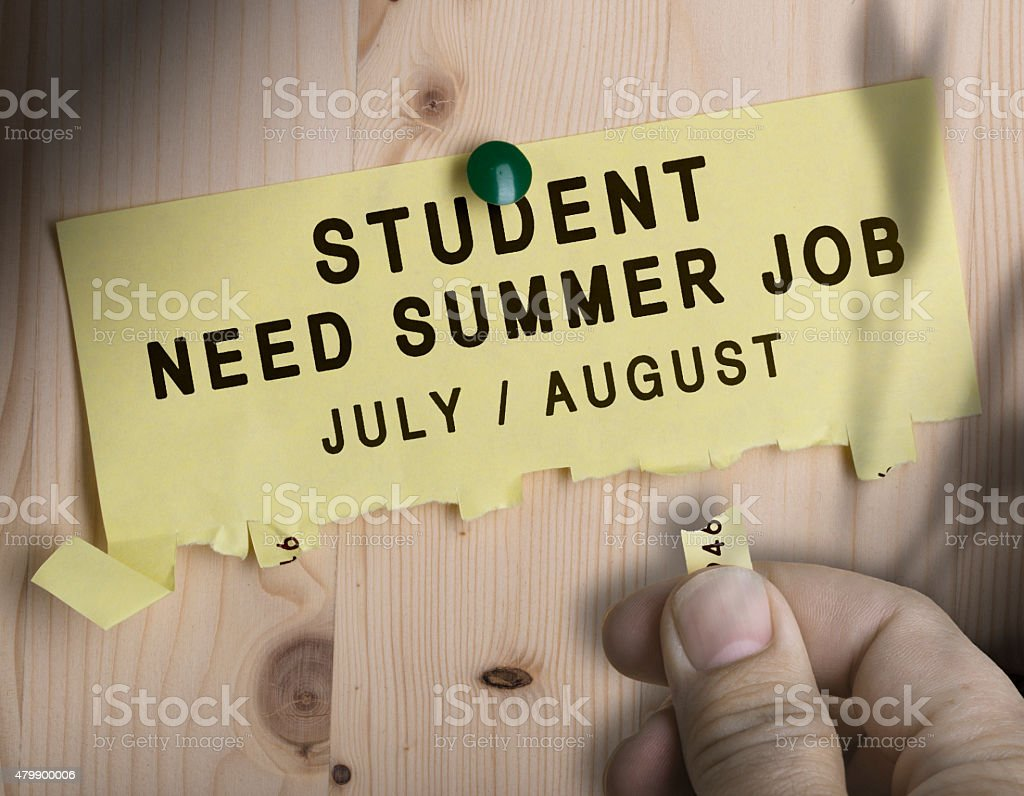 Summer Job, Seasonal Jobs Search stock photo