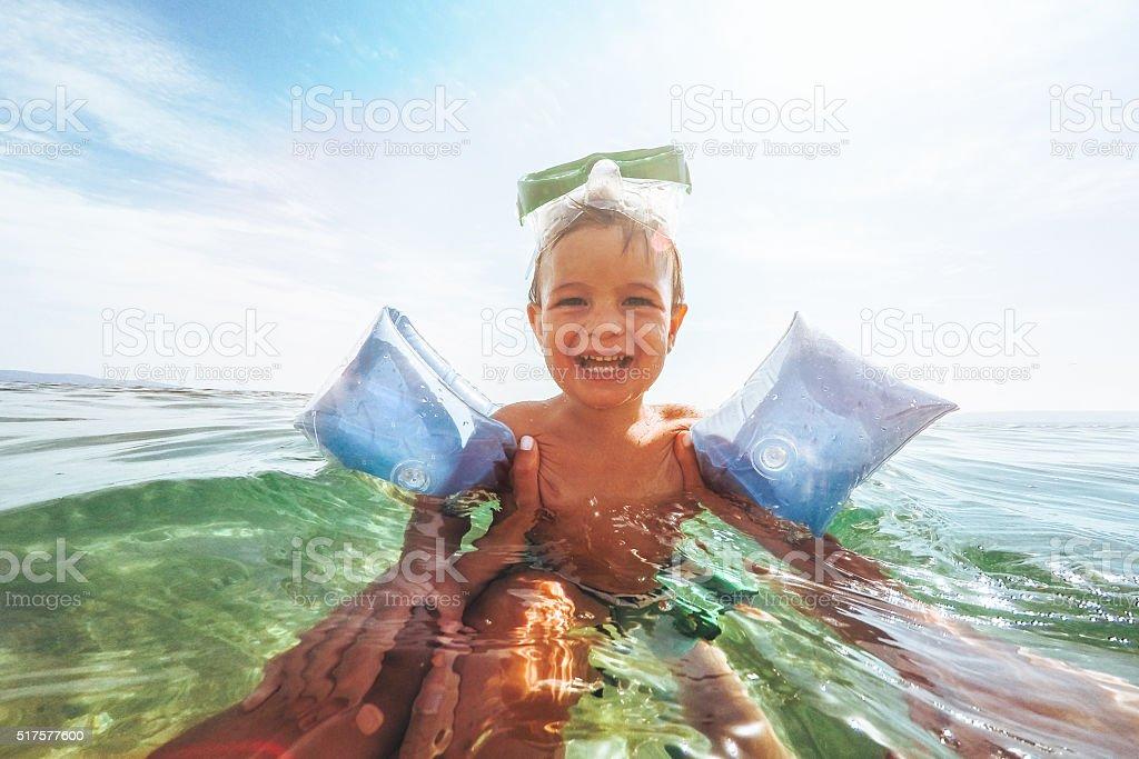 Summer joy stock photo