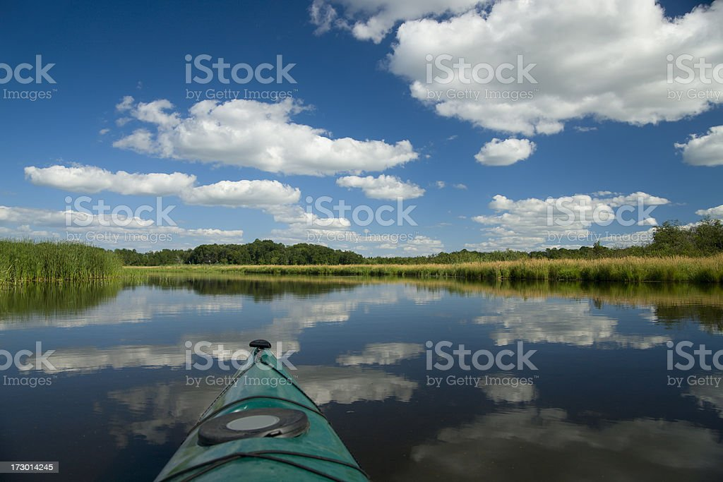 Summer kayaking. royalty-free stock photo