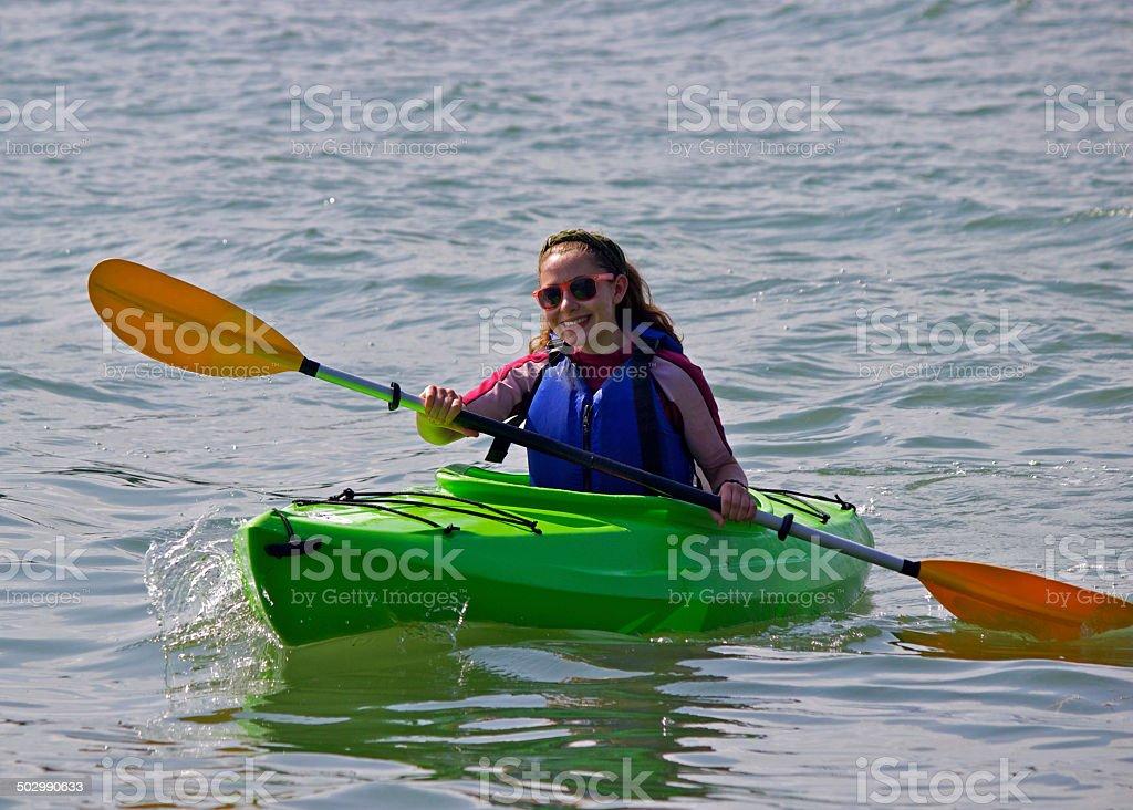 Summer Kayaking stock photo