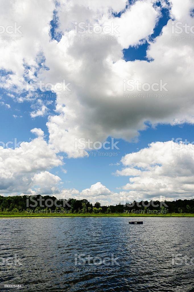 Summer Lake in Michigan stock photo