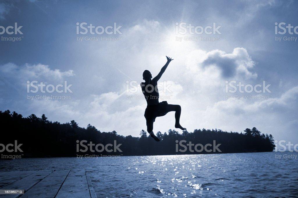 Summer Lake Jumper stock photo