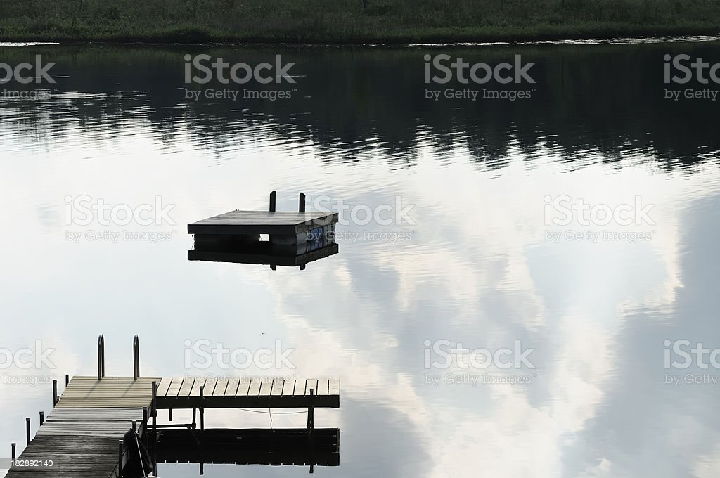 Summer Lake stock photo
