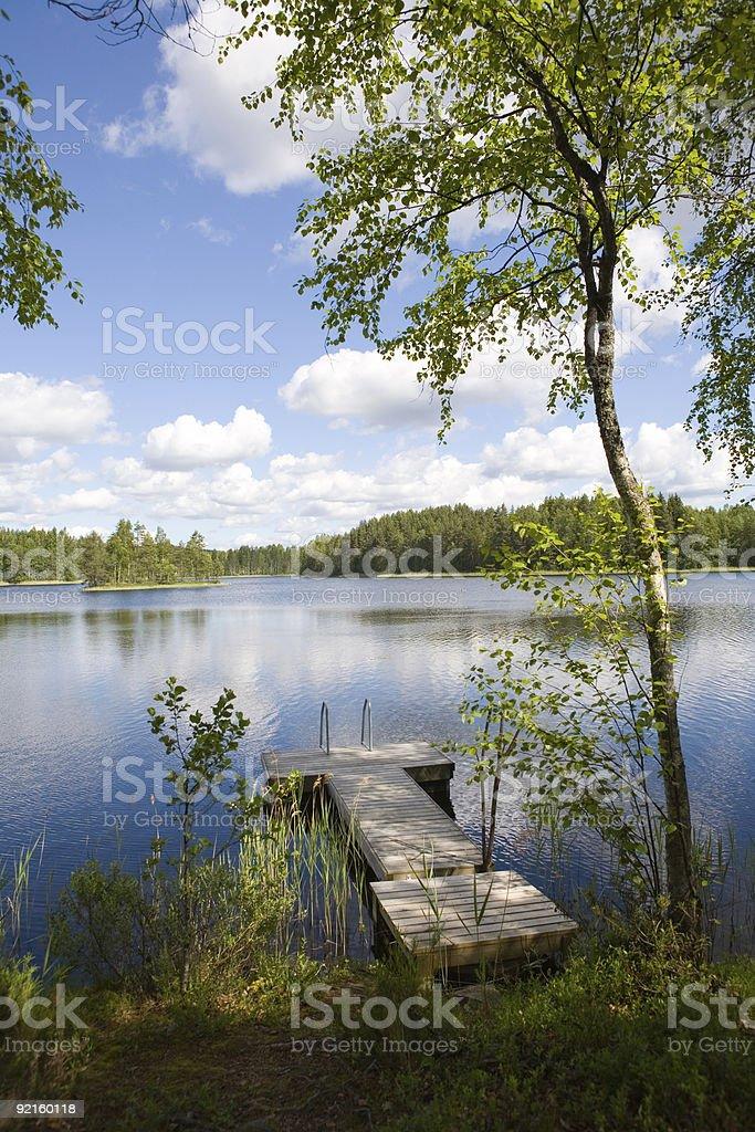 Summer Lake royalty-free stock photo