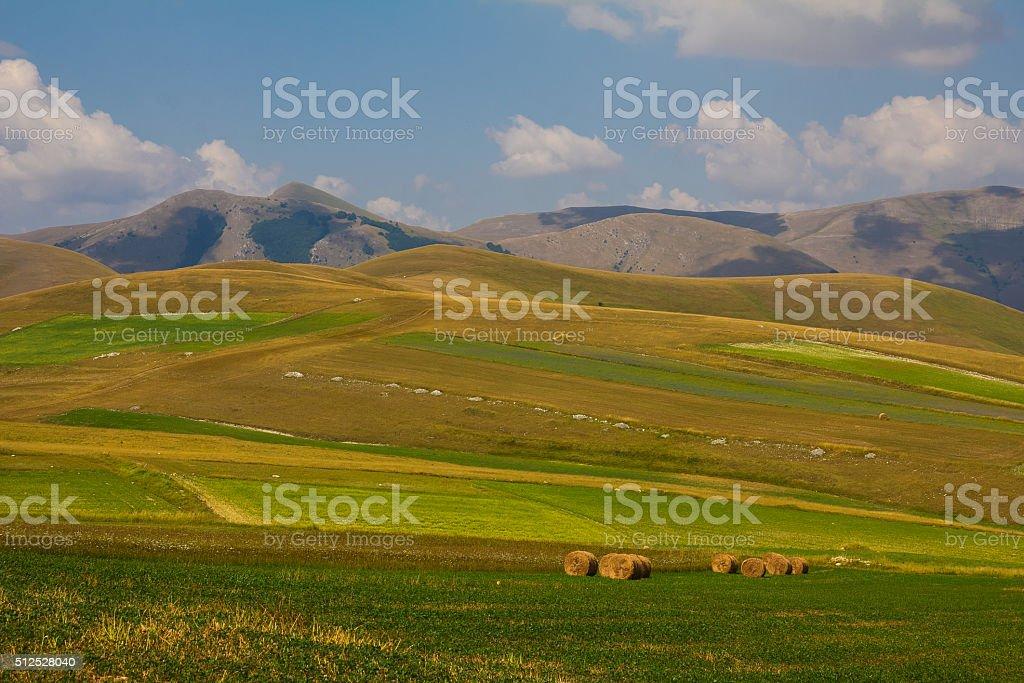 Summer landscape at Piano Grande stock photo