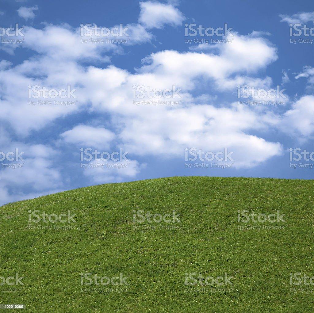 Summer landscape background royalty-free stock photo