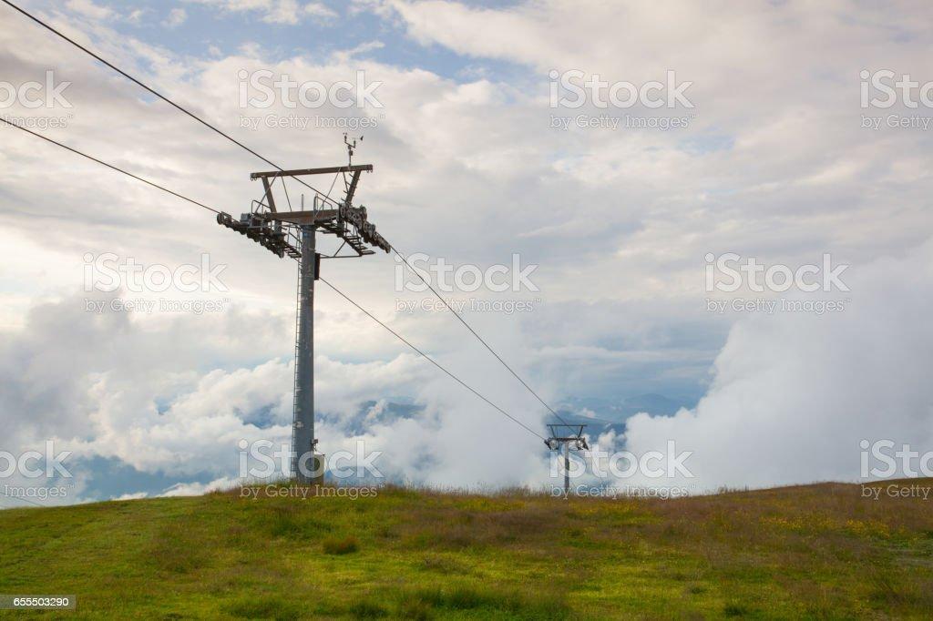 Summer landscape in Gerlitzen Apls stock photo