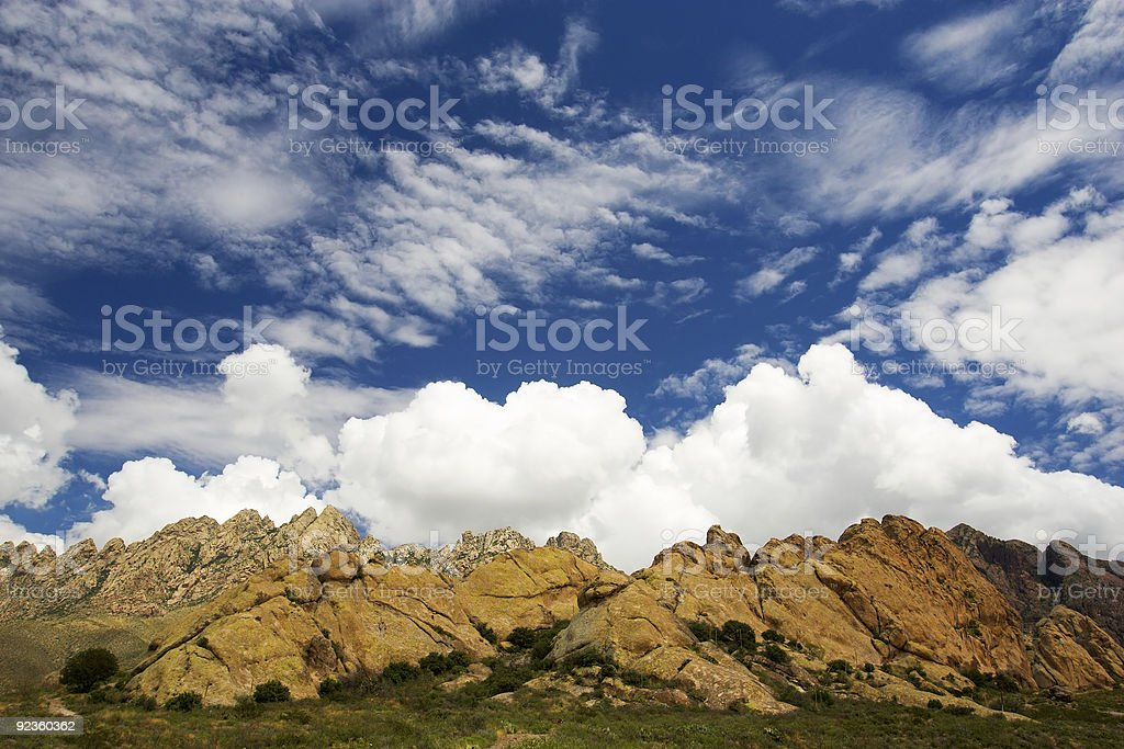 Summer Landscape in Las Cruces, New Mexico royalty-free stock photo