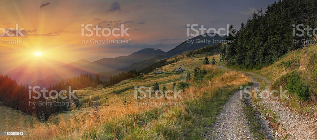 Summer landscape in the mountains. royalty-free stock photo