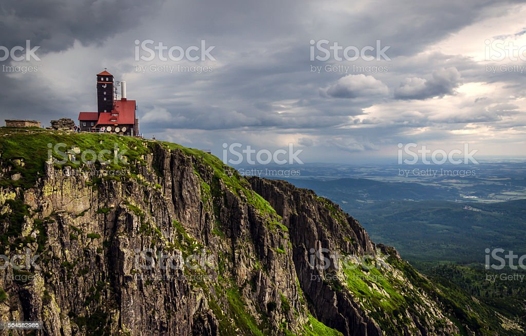 Summer landscape of Karkonoski National Park, Poland stock photo