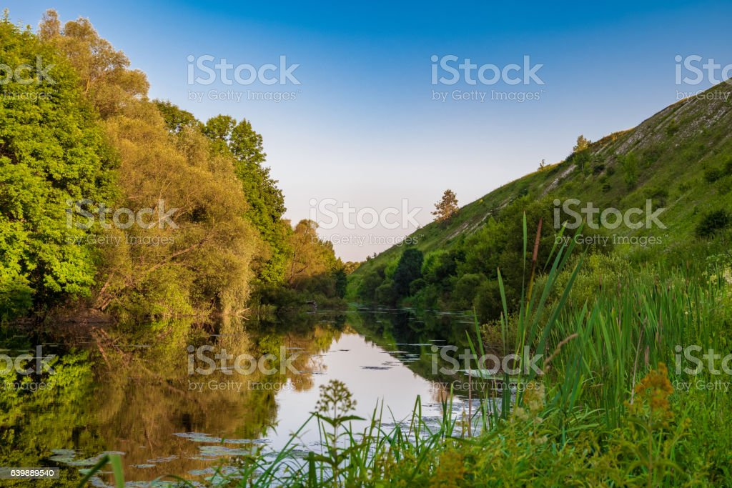 Summer landscape Root River stock photo