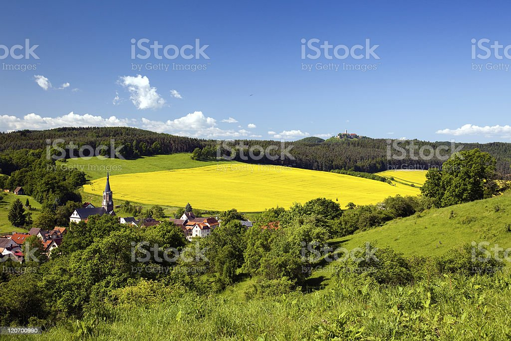 summer Landscape Unterbodnitz stock photo