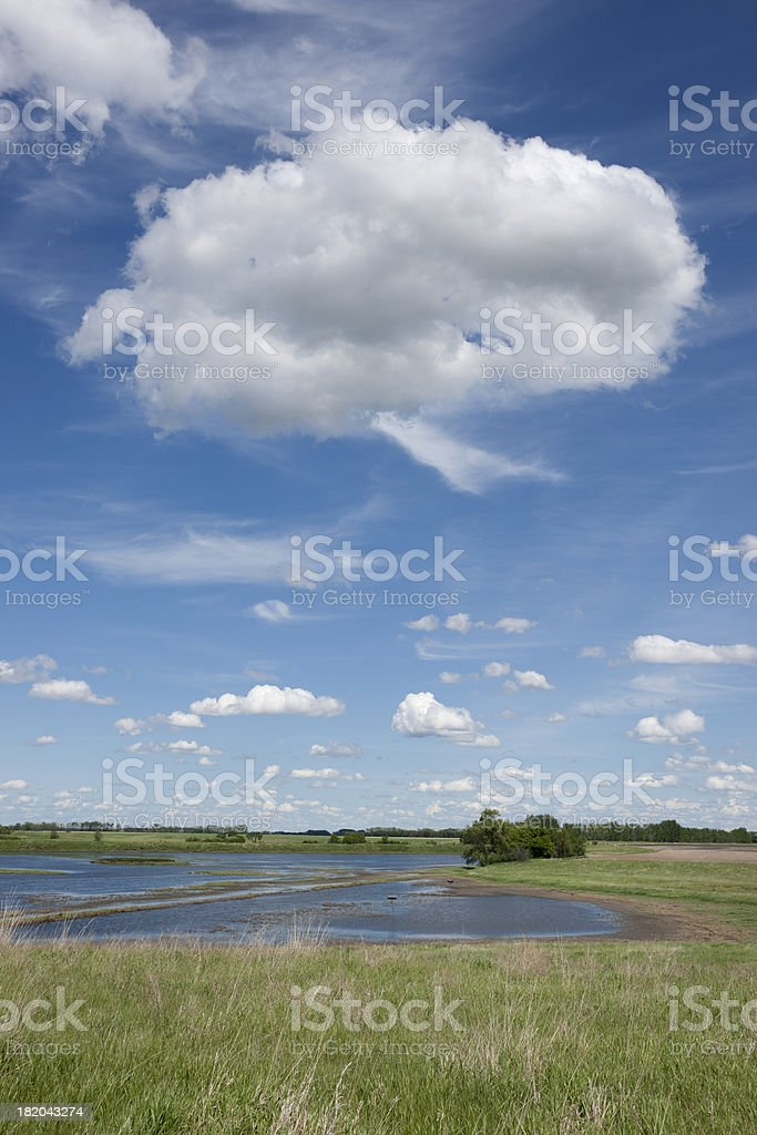 summer landscape with clouds and water royalty-free stock photo