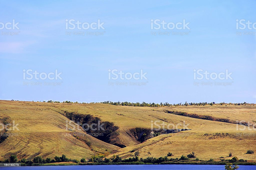 Summer landscape with mountains and ravine royalty-free stock photo