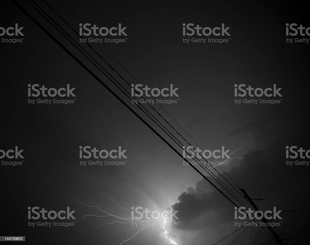 Summer Lightning royalty-free stock photo
