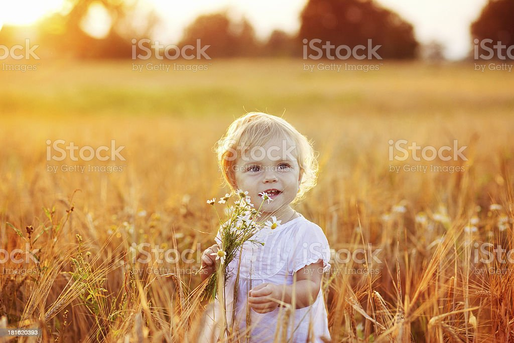 Summer  little baby stock photo