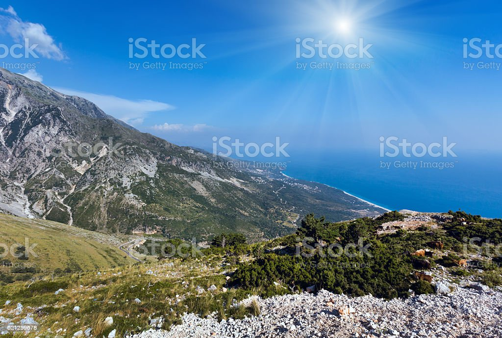 Summer  Llogara pass (Albania) stock photo