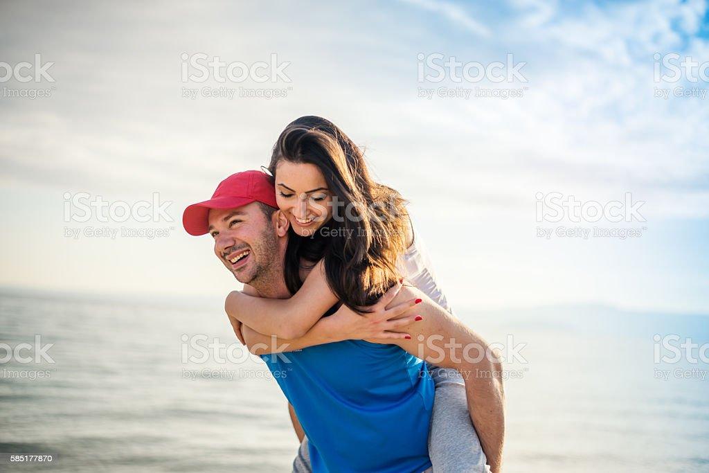 Summer love couple stock photo
