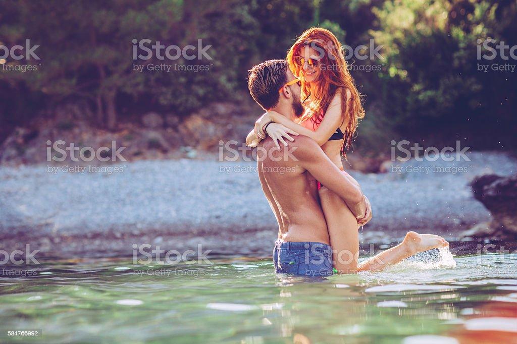 Summer love. stock photo