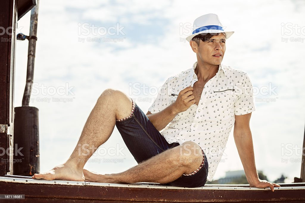 Summer Man royalty-free stock photo