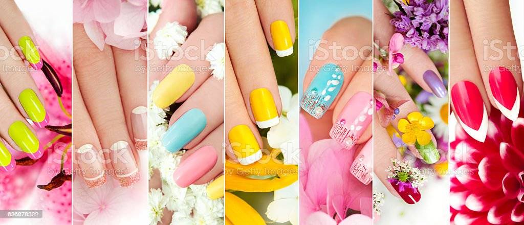 Summer manicure. stock photo