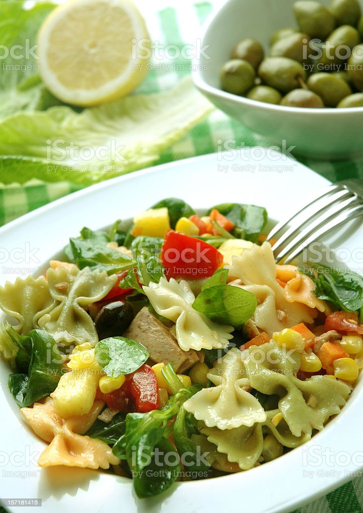Summer meal stock photo