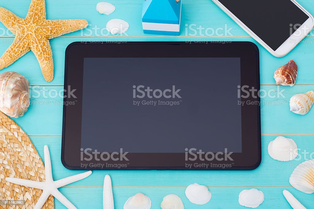 Summer Mobile Gadgets Theme stock photo