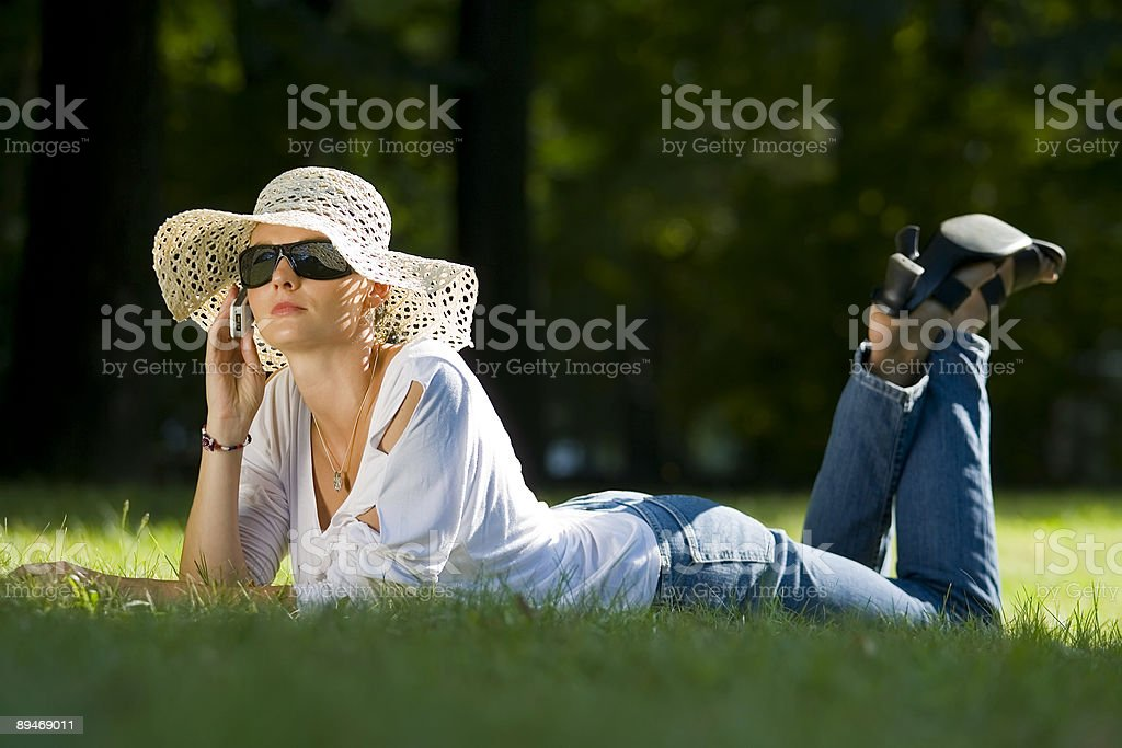 Summer Mobile royalty-free stock photo