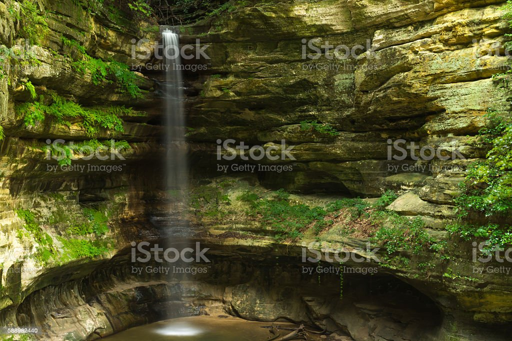 Summer morning falls. stock photo