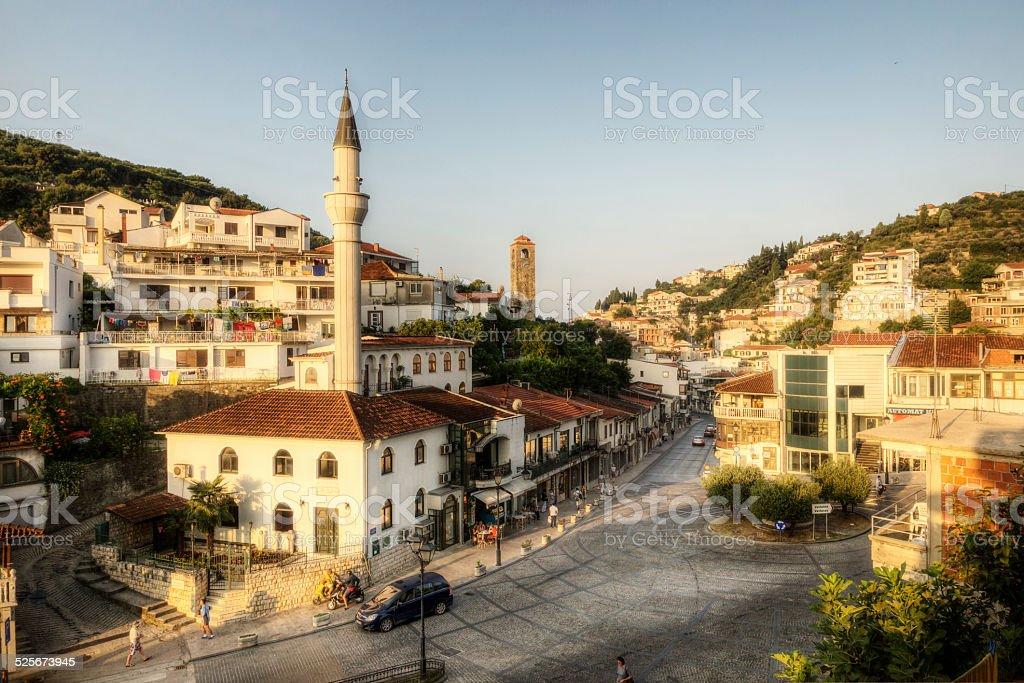 Summer Morning in Montenegro stock photo