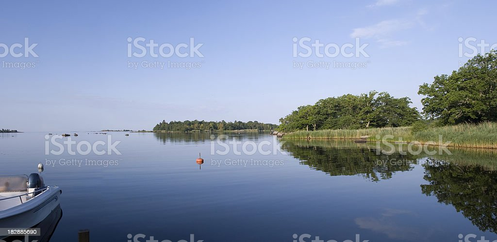 Summer morning in Sweden stock photo