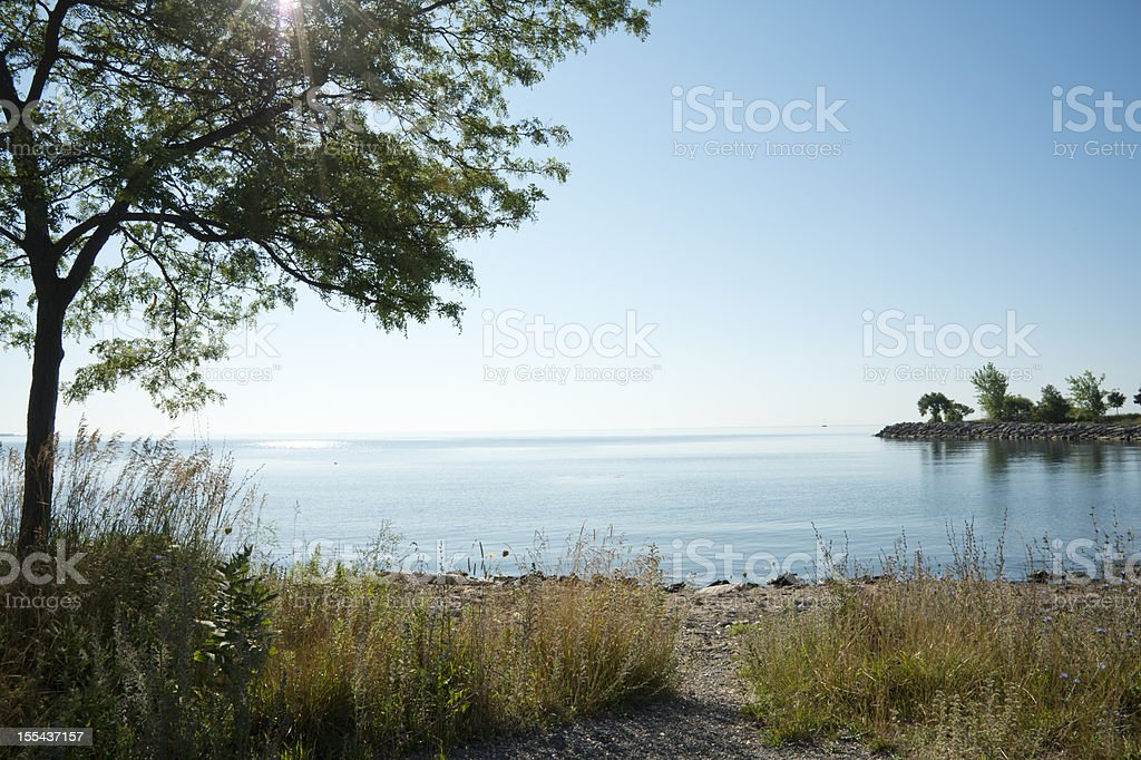 Summer Morning on Lake Ontario stock photo