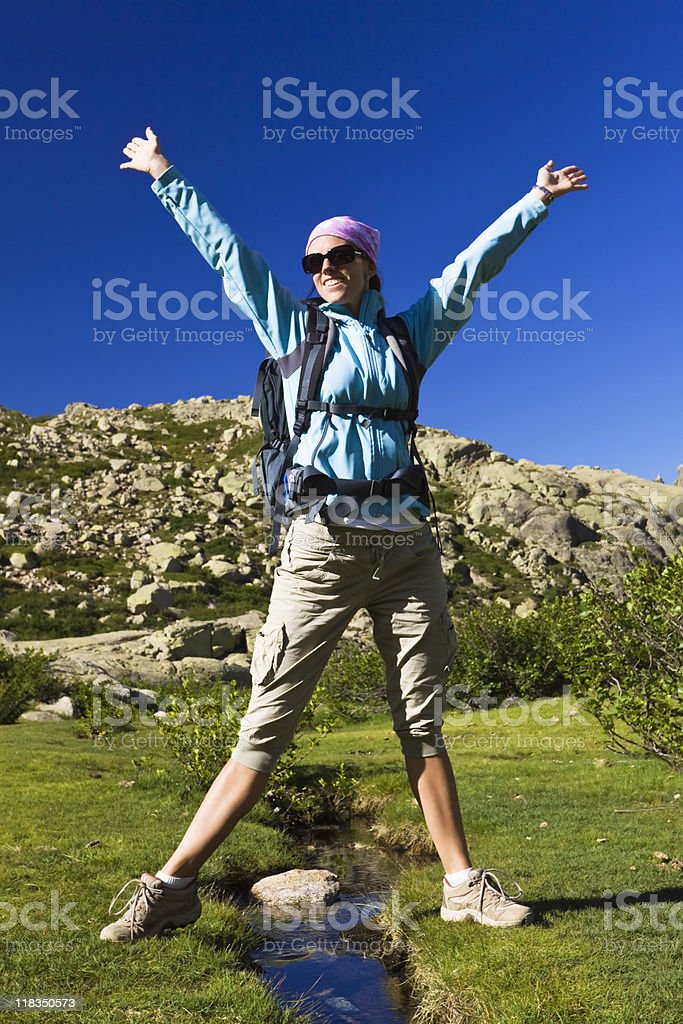 summer mountain hiking royalty-free stock photo