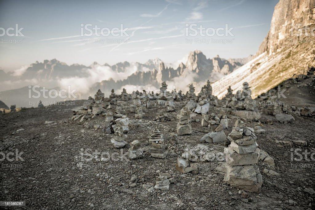 Summer mountain landscape - Dolomites, Italy stock photo