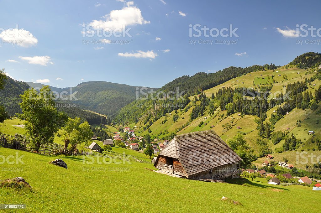 Summer mountain landscape stock photo