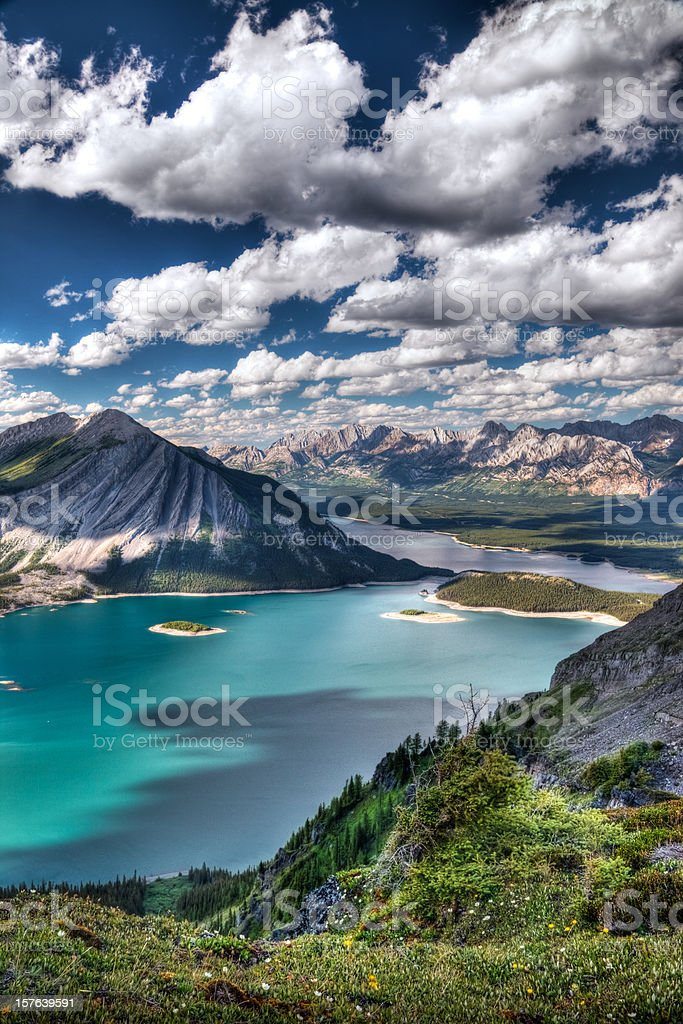 Summer Mountain Scene stock photo