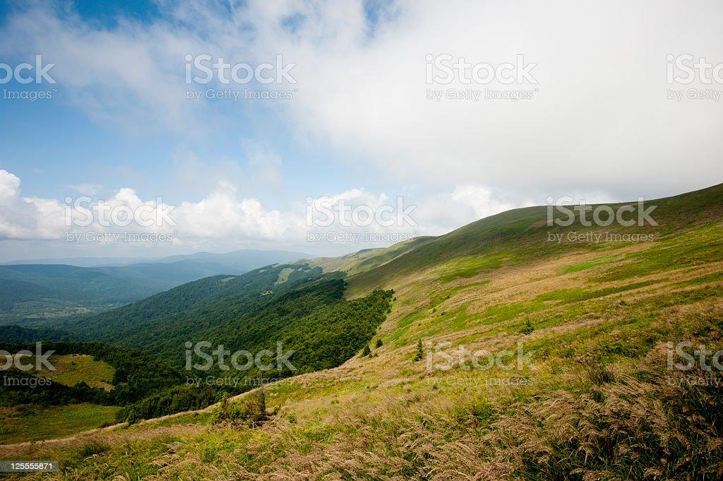 Summer mountains stock photo