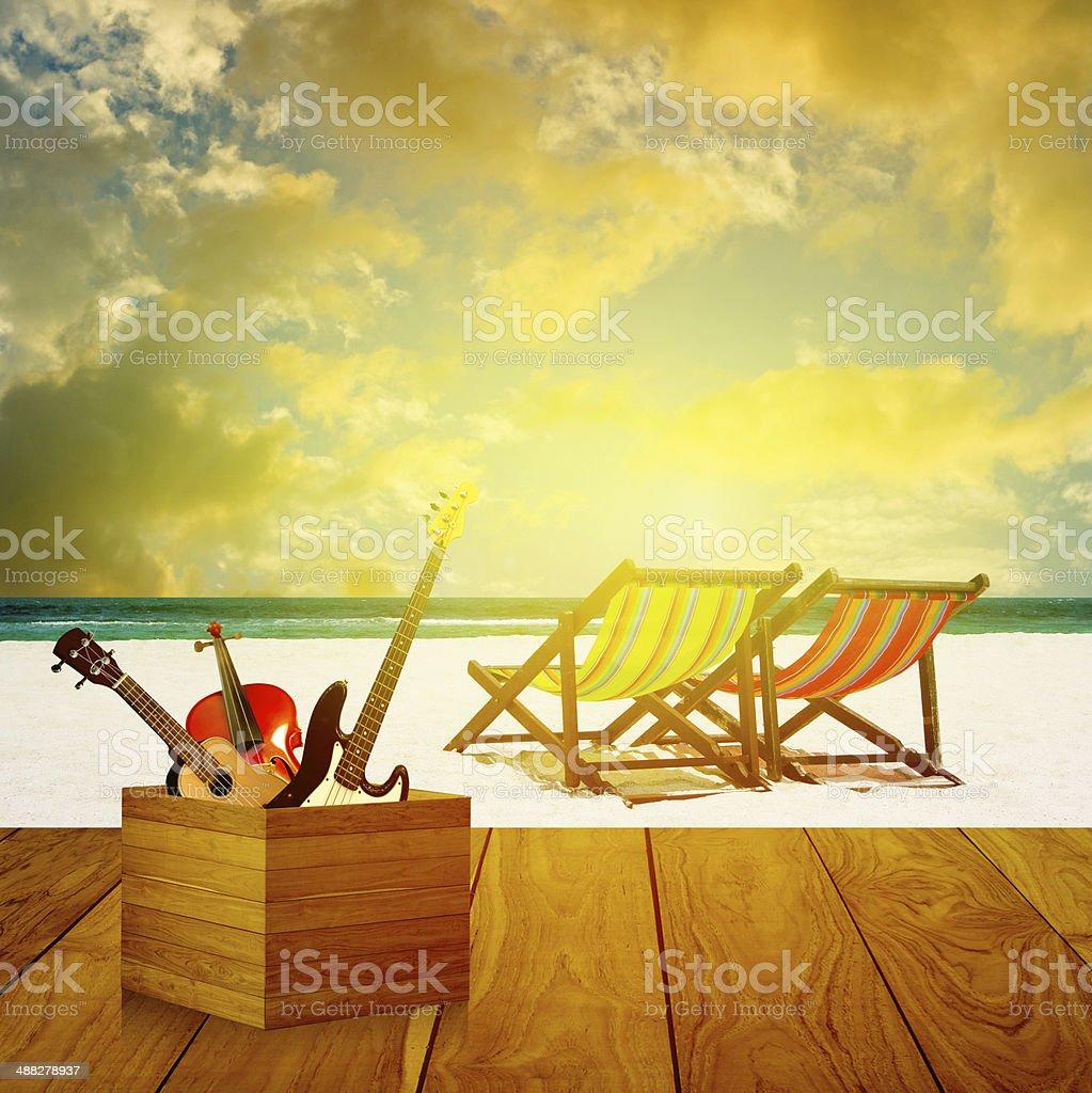 Summer music concept stock photo