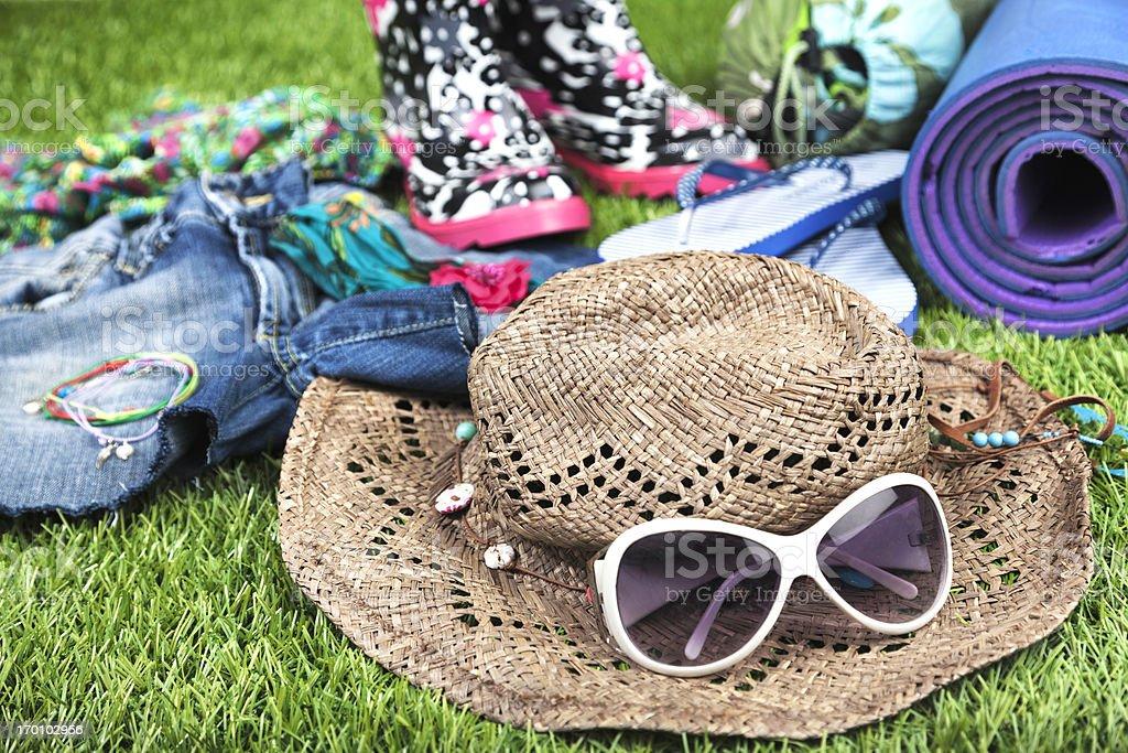 Summer Music Festival: essential items stock photo